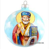 Новогодний шар ручной работы Николай Угодник подарок на новый год 2020