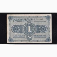 1 000 000 марок 1923г. В 593395. Ганновер. Германия