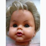 Большая кукла ГДР, времён СССР, папье-маше, винил, 60см