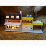 Масштабная Модель Здание Заправка Кафе Micro Machines 1989 Galoob Toys