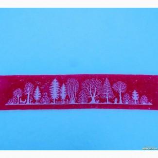 Вышитая крестиком картина. Лес. Ренато Паролин