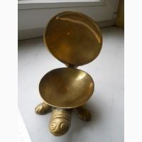 Черепаха -шкатулка из латуни и перламутра