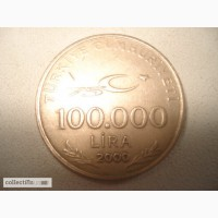 Продам монету: 100.000 лир, 2000 год, Турция