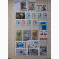 Почтовые марки Украины. годовые наборы 1992-1996 года