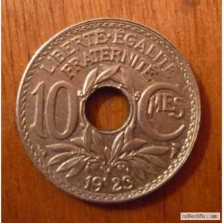 10 сантим 1923 франция