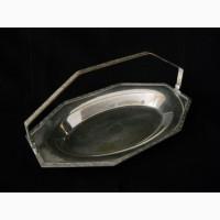 Старинная ваза конфетница-мельхиор/серебро