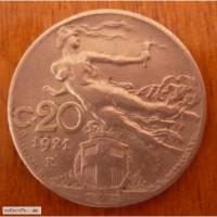 20 сантим 1921г Италия