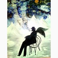 КУРЯГА 50х70 олія полотно картина-учасниця виставок