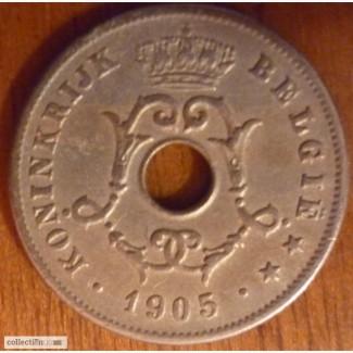10 центов 1905 Бельгия