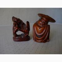 Винтажные маленькие деревянные статуэтки