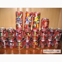 Коллекционные банки Coca-Cola ЧМ-2010 и Евро-2008, World Cup 2010, Euro 2008