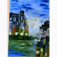 ШАНХАЙ 50х70 5070 олія полотно-картина-учасн виставок