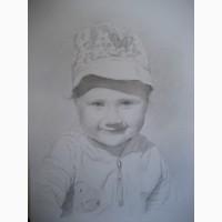 Портрет по фото карандашом Киев.Портрет карандашом цена