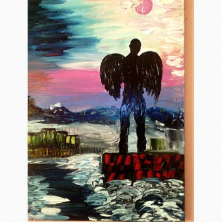 АНГЕЛ НОЧІ 50х70 олія полотно картина-учасниця виставок