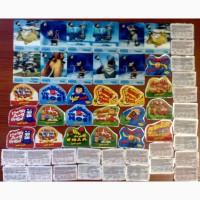 Продам наклейки и тату нательные ХУББА БУББА 43 штуки + 3d календарики 11 штук