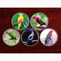 Набор монет Попугаи 2020