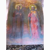 Икона Св. Мученица Анна и Св. Пр. Василий исповедник 19 век