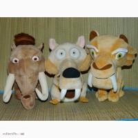 Игрушки Ледниковый период - Ice Age - Белка Скрат, Элли, Диего