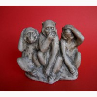 Винтажная статуэтка из камня трёх обезьян
