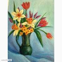 Картина маслом Весенние цветы