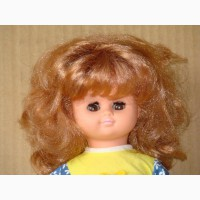 Продам новую куклу с закрывающимися глазами ссср 1983год жесткая резина рост-32см