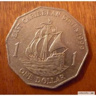 1 доллар Карибские острова