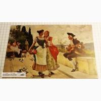 Открытка (ПК). Hanfstaengl s Kunstlerkarte 25. Лот 178