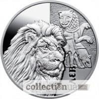 Монета ЛЕВ. Серебро