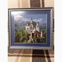 Картина гобелен лебединый замок в раме
