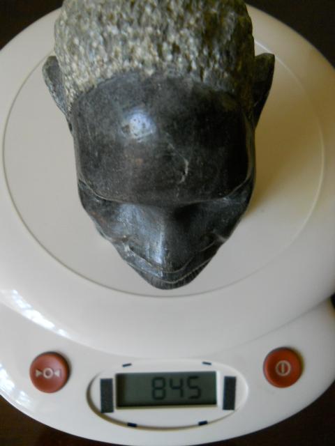 Фото 10. Бюст негритянской головы из натурального камня