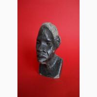 Бюст негритянской головы из натурального камня