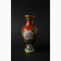 Китайская винтажная ваза клуазоне