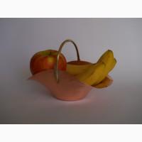 Винтажные медная корзина-фруктовница
