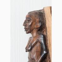 Африканская статуэтка резная скульптура женщины африканки из черного дерева эбен