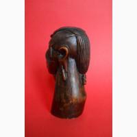 Бюст головы из дерева Американского этнического индейца