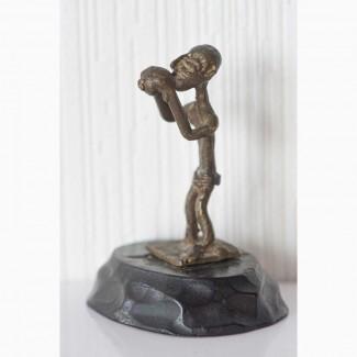 Африканская статуэтка бронзовая фигурка человека народа ашанти (разновесок золотого песка)