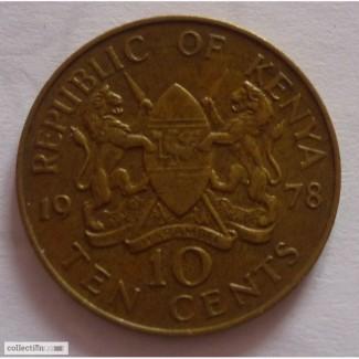 10 центов Кения 1978г