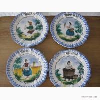 Продам новые тарелки настенные -4 единицы (Времена года), ручная роспись. Италия