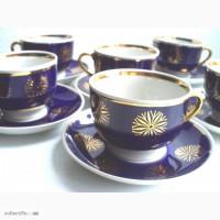 Патриотическое: 6 фарфоровых чайных пар, Довбыш 70-е гг