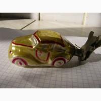 Ёлочная игрушка машинка, прищепка, 40-50 г., СССР