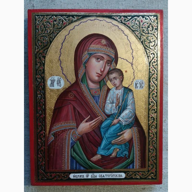 Фото 2. Икона Божией Матери «Святогорская» Богородица Святогорская. Золотофонка. Письмо темперой