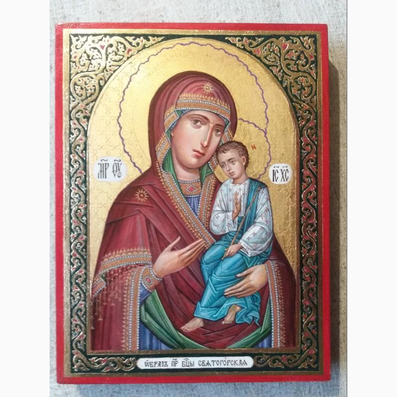 Фото 5. Икона Божией Матери «Святогорская» Богородица Святогорская. Золотофонка. Письмо темперой