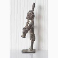 Африканская статуэтка бронзовая фигурка музыканта народность акан (ашанти)