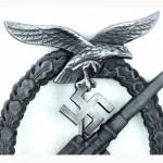 ЗНАК. Зенитная артиллерия Luftwaffe в футляре. ОРИГИНАЛ