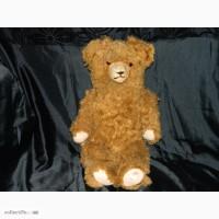 Антикварный Большой Мишка Hermann Bear Опилки 1950