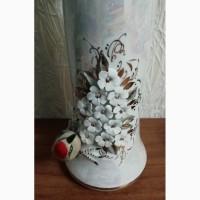Продам вазу Птица на цветущей вишней фарфор с позолотой