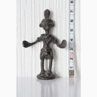 Африканская статуэтка бронзовая фигурка человека народность акан (ашанти)