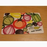 Карточка подарочная Subway