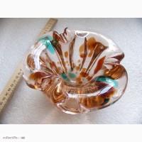 Пепельница цветной чешский хрусталь, 60-е