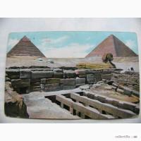 Очень редкая, цветная, коллекционная открытка, из Египта в Империю 1912 год
